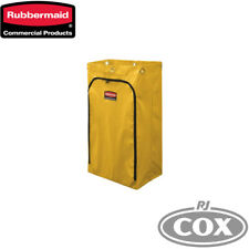 Rubbermaid Janitor Cart Bag Yellow with Zipper Yellow Vinyl for Traditional Cart