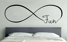 FUN INFINITY LOVE Wall Art Decal Quote Words Lettering Home Decor DIY