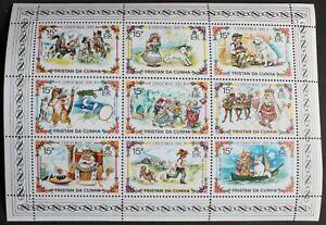 Tristan da Cunha – 1980 Christmas – Minisheet of 9 – UM (MNH) (R4)