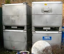Tote Systems, 304 SS Powder Tote with Valve - Approx 25 cubic foot - Never Used!