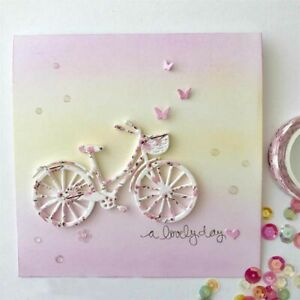 Butterfly Bicycle Metal Cutting Dies Stencil Scrapbooking Embossing Paper Cards