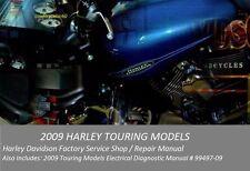 2009 Harley Touring Factory Service Shop Repair CD Manual & Electrical Diag