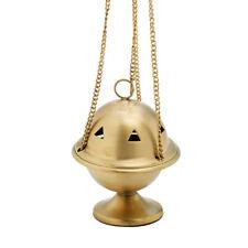 Weihrauchschwenker mit Kette 30cm Messing Räuchergefäß Deko goldfarbig 7230