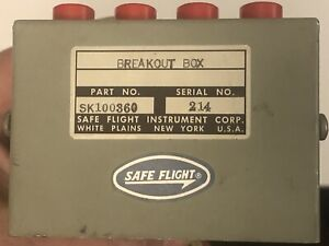 Safe Flight Lift Transducer Breakout Box for Beechcraft KingAir p/n SK100360