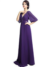 Long Mother of the Bride Groom Dress Party Evening Dresses Wedding Bridesmaid 16
