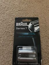Braun SERIES 7 Replacement Shaver Head Cassette in Silver for Series 7