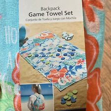 Checkers Game Beach Towel Set w Book Bag NWT