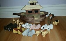 noahs ark wooden includes 17 animals noah and boat