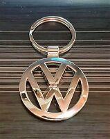 VW VOLKSWAGEN LLAVERO Logotipo Plata 38mm ORIGINAL