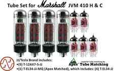 Tube Set Marshall JVM 410 H&C guitar amplifier JJ Electronics Apex Matched tubes