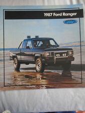 Ford USA Ranger range brochure 1987