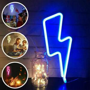 NEON Lightning Bolt LED Sign Light Wall Hanging Decor Custom Art Home Design UK