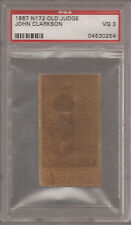 1887 N172 Old Judge JOHN CLARKSON HoF PSA 3 VG