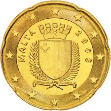 Monnaie 20 centimes cent cts euro Malte 2008, neuves du rouleau, UNC