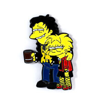 Sid and Nancy / Lisa and Nelson Simpsons Sex Pistols Tribute Pendant Lapel Pin