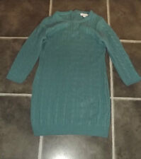 "LADIES FOREVER 21 BLUE CABLE KNIT KNITTED JUMPER DRESS LARGE CHEST 38"" 97cm"