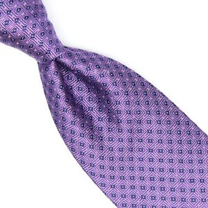 Robert Talbott Mens Silk Necktie Purple Blue Diamond Woven Jacquard Tie USA