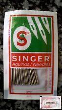 10 Agujas máquinas coser domésticas Singer 2020 80/11 11/80  para tejidos punto