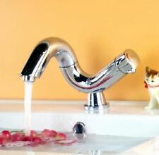 Bathroom Basin Sink Faucet Mixer Tap Swivel Nozzle Hot Cold Spout Deck Mounted