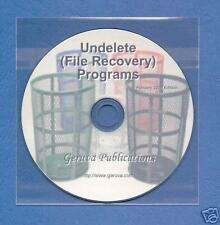 Undelete/File Recovery CD Linux/UNIX Windows Mac