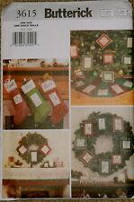 Butterick 3615 Soft stuff Christmas decorations
