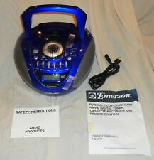 Emerson Portable cd Am Fm Cassette system Pd6871 Unused ? Look !