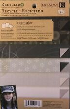 K & Company Double Sided Scrapbook Paper Cardstock Night Blacks Remake Mat Pad