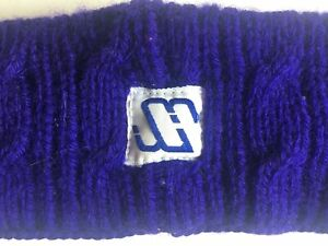 VTG MURRAY MERKLEY Virgin Wool Purple Knit Winter Ski Headband HANDMADE CANADA