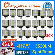 20X 48W LED Work Lamp Light Bar Spot Offroad Tractor Car Boat Truck 12V 24V ATV
