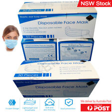 Disposable Face Masks 3-Layer Surgical Certified Anti Flu Bacterial Dust Filter