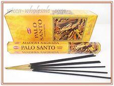Lot Of 100 Stick Palo Santo Incense Hem ~ 5 Tube Of 20 Sticks = 100 Holy Wood