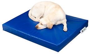 "Dog Bed Chew Resistant Uber Large Waterproof Heavy Duty Blue 4"" 10cm"