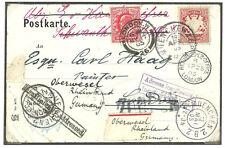 Tedesco 10 MONACO 1905 reindirizzati 1D Edoardo VII Londra sufficientemente affrontato