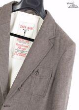 Zara Man Brown Blazer W/ Leather Elbow Patch Sz. M