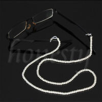 Eyeglass Reading Glasses Spectacles Eyewear Pearl Beaded Chain Cord Holder