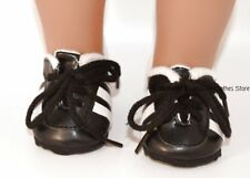 Sports Cleats Black & White 18 inch American Girl or Boy Doll Clothes
