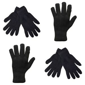BLACK MENS THERMAL GLOVES CHARCOAL ALL SIZES CLEARANCE PRICE HEAT INSULATIONN