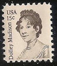 US 1822 Dolley Madison 15c single MNH 1980