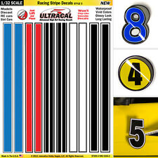 1/32 Slot Car Model Waterslide Decals Racing Stripes #3 Fits SCALEXTRIC