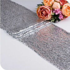 "Sparkly Sequin Birthday Wedding Party Table Runner Banquet Decorations 12"" x 72"""