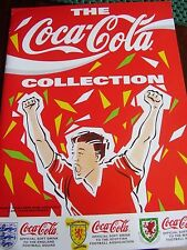 RARE THE COCA COLA COLLECTION STICKER BOOK ALBUM FOOTBALL GASCOIGNE RUSH EMPTY