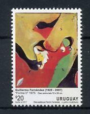 Uruguay 2017 MNH Guillermo Fernandez Forma II 1v Set Paintings Art Stamps