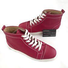 Christian Louboutin Louis Men's Flat High Top Fashion Sneakers Black Sz 10