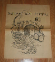 vintage 1966 St. Helena Star Newspaper Special Wine Edition Napa Valley Festival