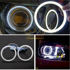2pcs 80mm Cob Angel Eyes Halo Rings LED DRL Headlight Decorative Light Universal