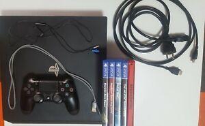 PS4 Pro 1TB - Consola Sony PlayStation 4 Pro 1TB Negra + Dualshock 4 + 5 Juegos
