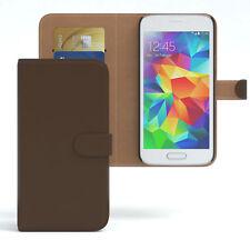 Tasche für Samsung Galaxy S5 Mini Case Wallet Schutz Hülle Cover Braun