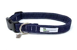 Denim Fabric Adjustable Dog Collar