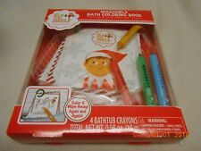 NEW ELF ON THE SHELF Washable Bath Coloring Book & 4 Bathtub Crayons Christmas