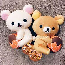 NEW x2 San-X Choco Orange Rilakkuma Korilakkuma Bear Plush Kawaii Japan Sanrio